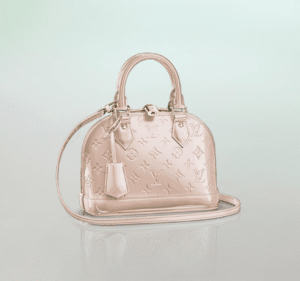 Louis Vuitton Rose Angelique Monogram Vernis Alma BB Bag