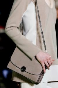Marc Jacobs Beige Suede Chained Flap Bag - Fall 2014