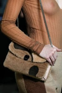 Marc Jacobs Brown Fur Chained Flap Bag 2 - Fall 2014