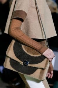 Marc Jacobs Brown Fur Chained Flap Bag - Fall 2014
