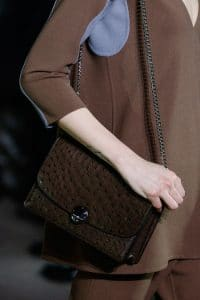 Marc Jacobs Brown Ostrich Chained Flap Bag 2 - Fall 2014