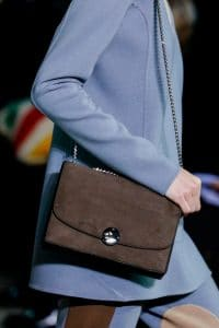 Marc Jacobs Brown Suede Chained Flap Bag - Fall 2014