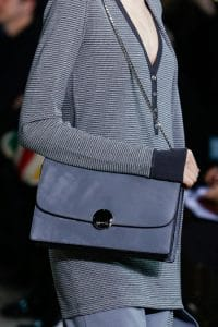 Marc Jacobs Dark Grey Suede Chained Flap Bag - Fall 2014