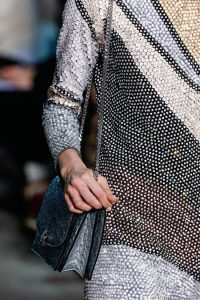 Marc Jacobs Silver Ostrich Chained Flap Bag 2 - Fall 2014