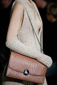Marc Jacobs Tan Ostrich Chained Flap Bag - Fall 2014