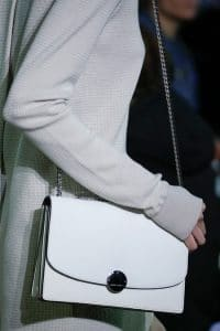 Marc Jacobs White Chained Flap Bag - Fall 2014