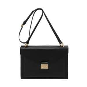 Mulberry Black Velvet Calf Kensal Shoulder Bag