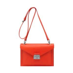 Mulberry Fiery Red Velvet Calf Kensal Small Shoulder Bag