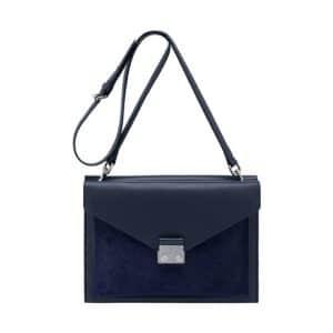 Mulberry Midnight Blue Velvet Calf and Haircalf Kensal Shoulder Bag
