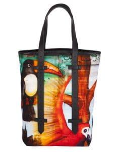 Proenza Schouler Black Printed Tote Bag for Le Bon Marche