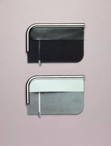 Proenza Schouler Black/Grey Curved Chrome Bar Clutch Bags - Spring 2014