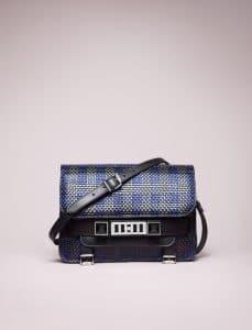 Proenza Schouler Blue/Black PS11 Mini Classic Bag - Spring 2014