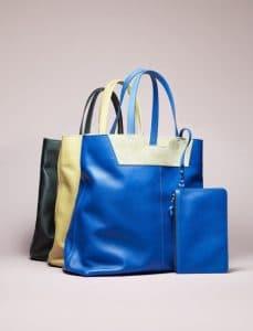 Proenza Schouler Blue/Yellow/Black Paper Bag Totes - Spring 2014