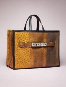 Proenza Schouler Caramel Patchwork Exotic PS11 Tote Bag - Spring 2014