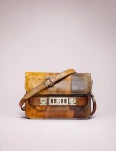 Proenza Schouler Caramel/Black Patchwork Exotic PS11 Classic Bag - Spring 2014