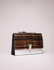 Proenza Schouler Caribe/White/Black Printed Ayer Stripe Lunch Bag - Spring 2014
