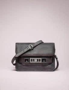 Proenza Schouler Grey PS11 Mini Classic Chalkboard Bag - Spring 2014