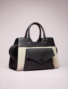 Proenza Schouler Natural/Black PS13 Linen Bag - Spring 2014