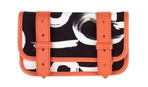 Proenza Schouler Orange/Black PS1 Wallet for Le Bon Marche