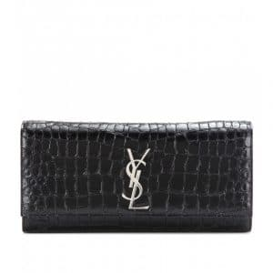 Saint Laurent Croc Monogramme Clutch Bag - Spring 2014