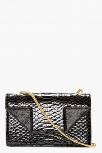 Saint Laurent Patent Croc with Gold Chain Betty Bag - Sprin 2014