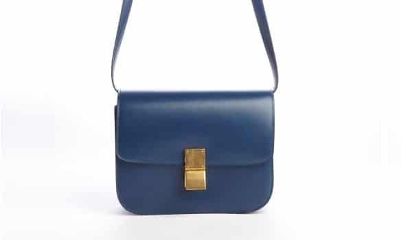 Celine Navy Blue Box Flap Bag