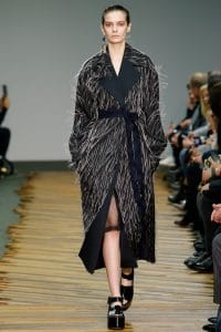Celine Black Fringed Tailored Coat - Fall 2014 Runway