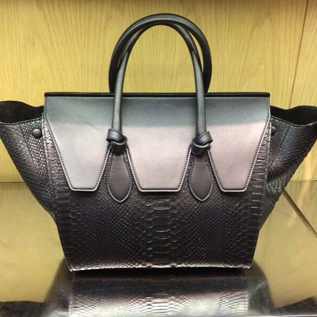 Celine Black Python Tie Tote Bag - Summer 2014 e4cbad3cd319c
