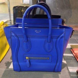 Celine Blue Nano Luggage Bag - Summer 2014