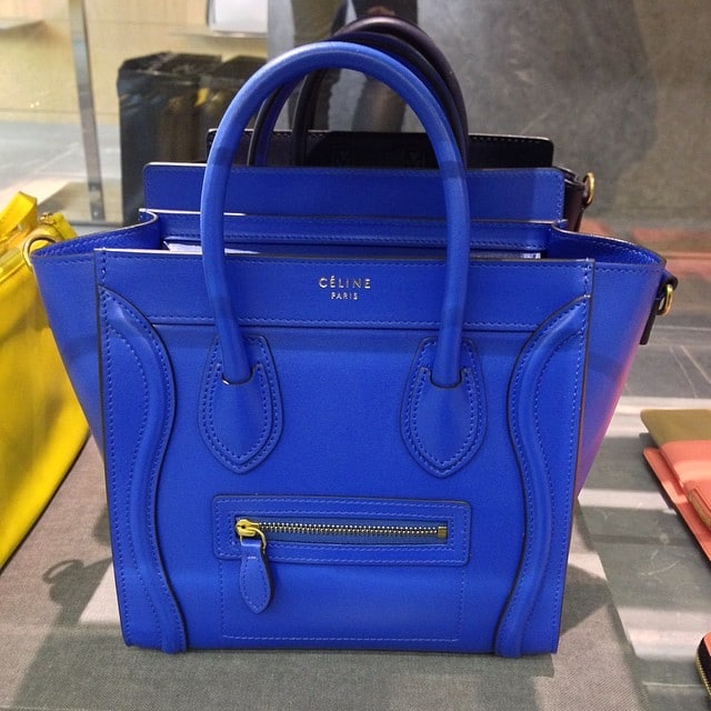 celine blue handbags