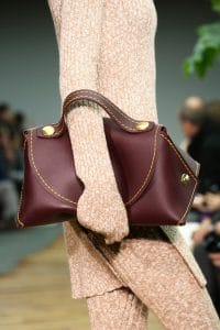 Celine Burgundy Calfskin Bag - Fall 2014 Runway
