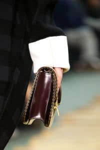 Celine Burgundy Envelope Clutch Bag - Fall 2014 Runway