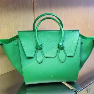 Celine Grained Green Tie Tote Bag - Summer 2014