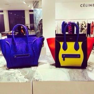Celine Mini Luggage Bag on display - Summer 2014