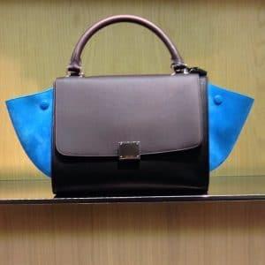 Celine Mini Trapeze Bag Blue Suede - Summer 2014