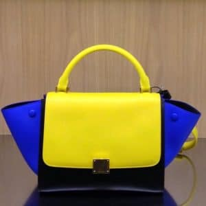 Celine Primary Color Blue Yellow Trapeze Bag - Summer 2014