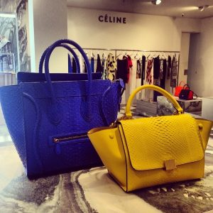 Celine Python Luggage Bag and Trapeze on Display Summer 2014