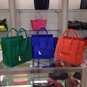 Celine Python Mini Luggage Bags on Display - Summer 2014