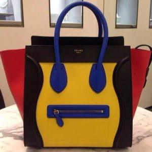 Celine Tricolor Primary Mini Luggage Bag - Summer 2014
