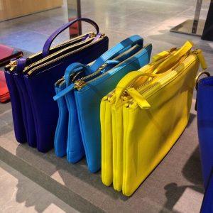 Celine Trio Messenger Bags for Summer 2014 - Blue Green Yellow