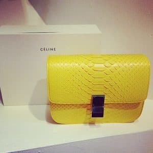 Celine Yellow Primary Box Flap Bag - Summer 2014