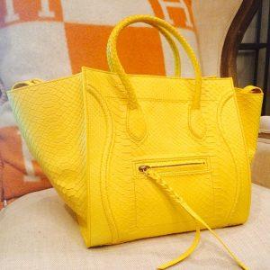 Celine Yellow Primary Python Phantom Bag - Summer 2014
