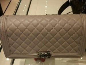 Chanel Beige Boy Flap Clutch Bag