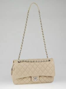 Chanel Beige Easy Caviar Jumbo Flap Bag