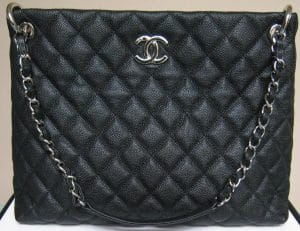 Chanel Black Easy Caviar Tote Bag