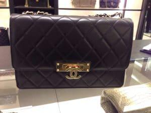 Chanel Black Golden Class Large Flap Bag