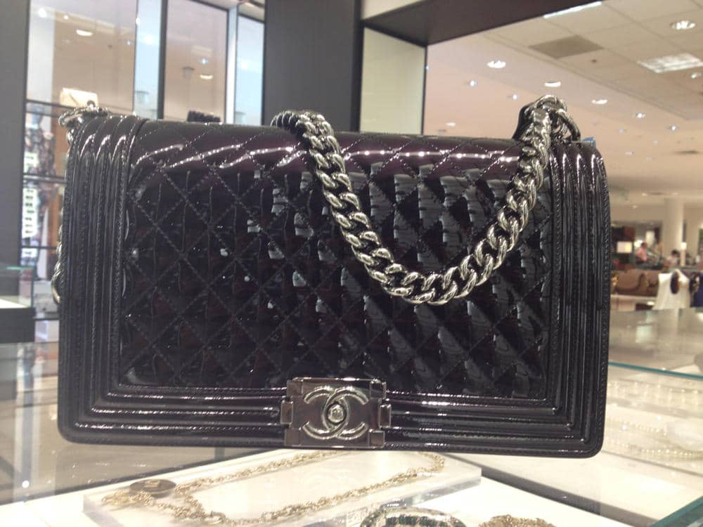 df41436afdf3 Chanel Metallic Patent Boy Bag Reference Guide and New Sizes ...