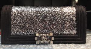 Chanel Black Python Boy Flap Clutch Bag