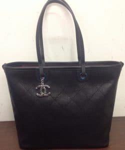 Chanel Black Shopping Fever Tote Bag 2