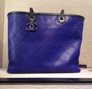 Chanel Blue Shopping Fever Tote Bag